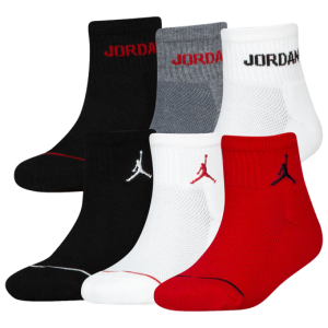 Детски чорапи Jordan Jumpman 6 Pack Quarter Socks Boys' Grade School